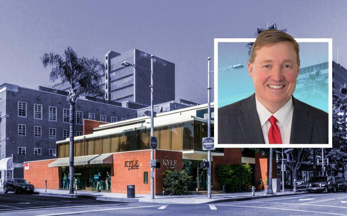 Corcoran Global Living CEO Michael Mahon and the Beverly Hills location. (Corcoran, JLL)