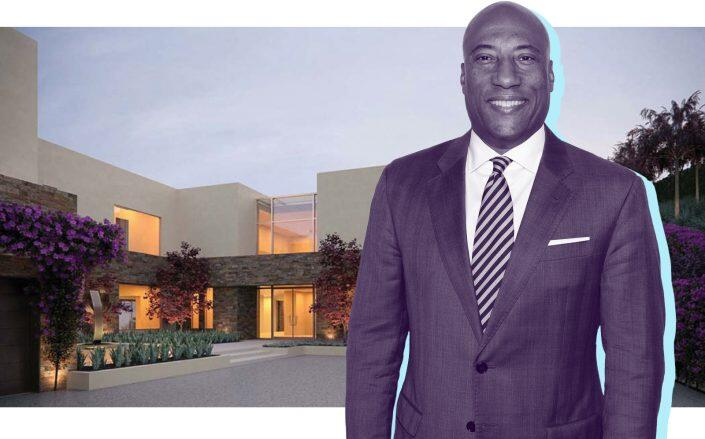 Rendering's of Byron Allen's future mansion. (Getty, Landry Design Group)