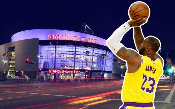 The new lease keeps the Lakers in the stadium through 2041. (Getty)