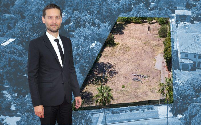 Tobey Maguire and his $11 million acre of dirt. (Getty, David Offer)