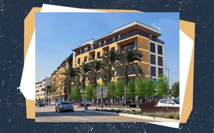 Rendering of the project (Triangle Culver City)