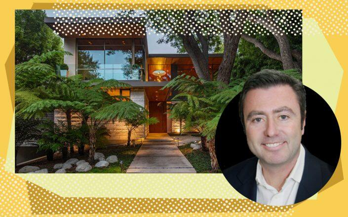 Cypress Equity Investments CEO Michael Sorochinsky and the Brentwood home (Cypress Equity, Redfin)