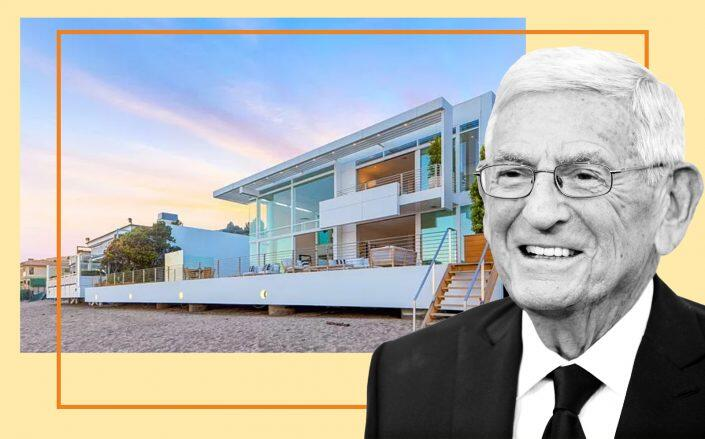 Eli Broad and 21958 Pacific Coast Highway (Getty, Zillow)