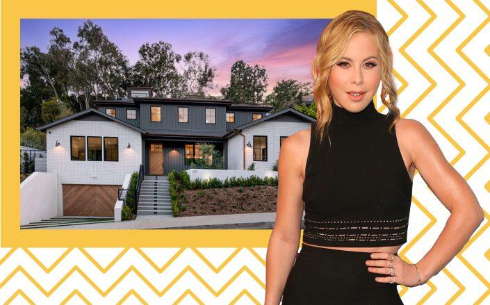 Tara Lipinski and the 6,779-square-foot home in Pacific Palisades (Getty, Compass)