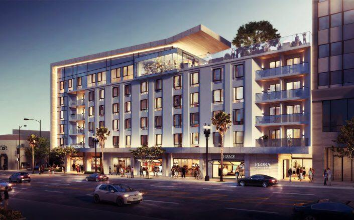 Rendering of the Project (City of Pasadena Design Commission / WATG)