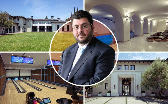 Hasan Ismaik and the Holmby Hills mansion (Getty, Westside Estate Agency)