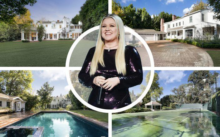 Kelly Clarkson and the Toluca Lake house (Compass, Getty)