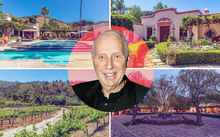 George Rosenthal with his 180-acre Malibu property (Getty, The Agency Real Estate)