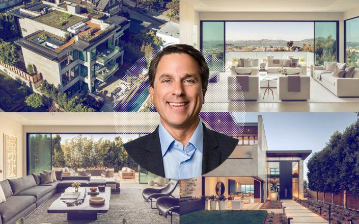 Developer Troon Pacific CEO Gregory Malin with the home (Compass, Troon Pacific)