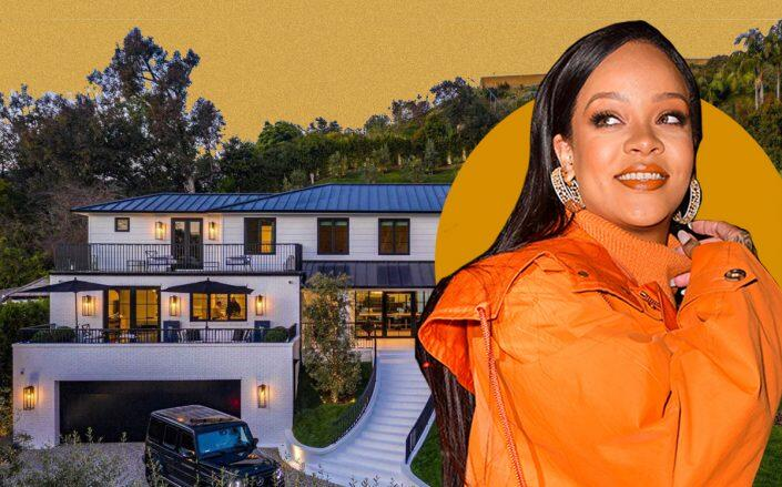 Rihanna and her Beverly Hills home (Getty)