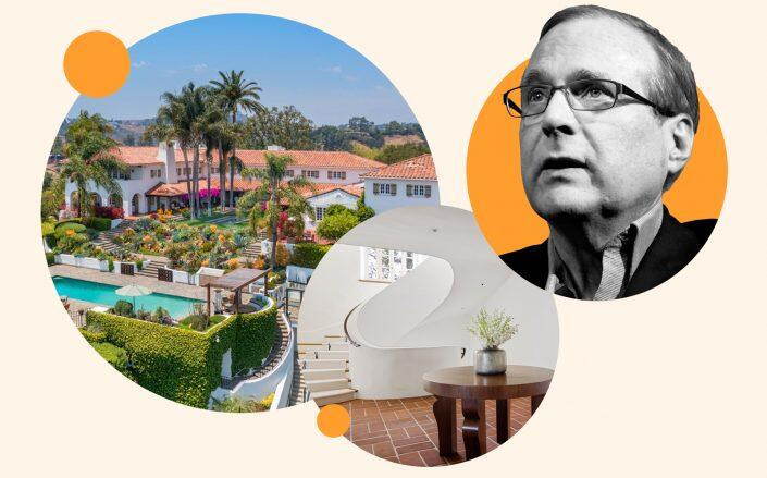 9402 Beverly Crest Drive and the late Microsoft co-founder Paul Allen (Redfin, Getty)