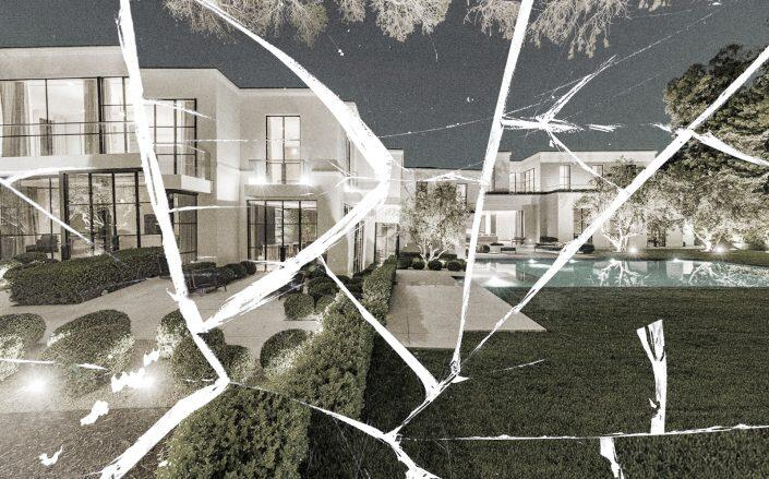 The Beverly Hills spec mansion that Ekkehart Hassels-Weiler bought in 2019. The property is full of structural defects that Hassels-Weilers alleges developers Ian Livingstone and Max Fowles-Pazdro concealed (Luca Lanzetta Group)