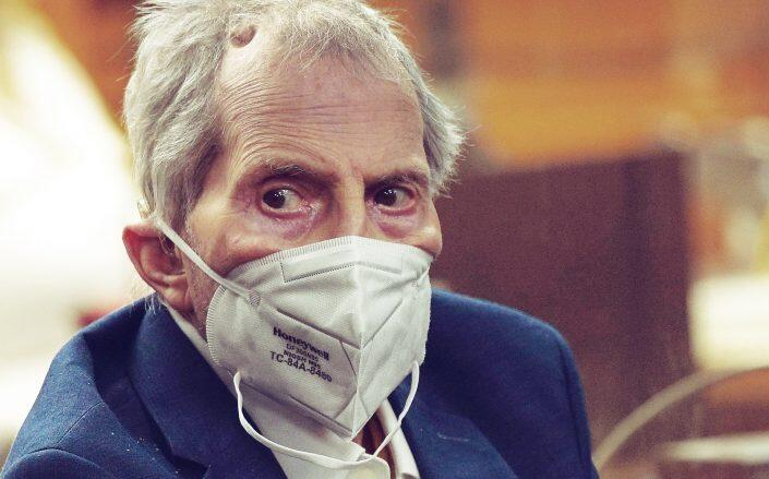 Robert Durst at the trail in May earlier this year (Getty)