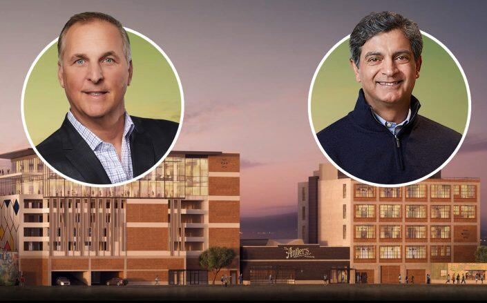 Hudson Pacific Properties CEO Victor Coleman and WeWork CEO Sandeep Mathrani with The Maxwell (Hudson, WeWork)