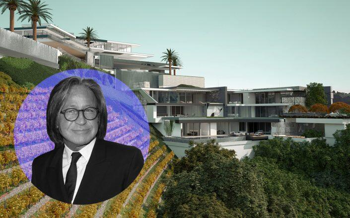 Mohamed Hadid and renderings of the project (Getty, Hilton & Hyland)