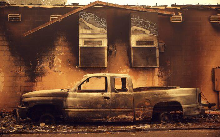 Aftermath of the fire in Greenville, California (Getty)