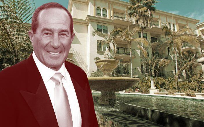Developer Geoff Palmer with one of his properties (Getty, G.H. Palmer Associates)