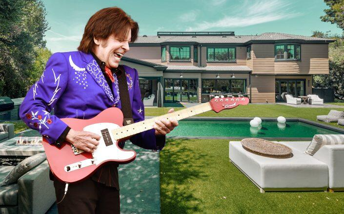 John Fogerty and his Encino home (Getty, The Altman Brothers)