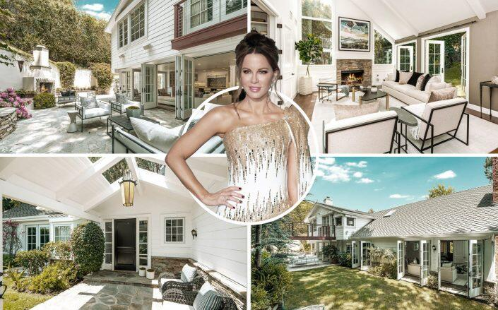 Kate Beckinsale and the Brentwood property (Getty, Coldwell Banker Realty)