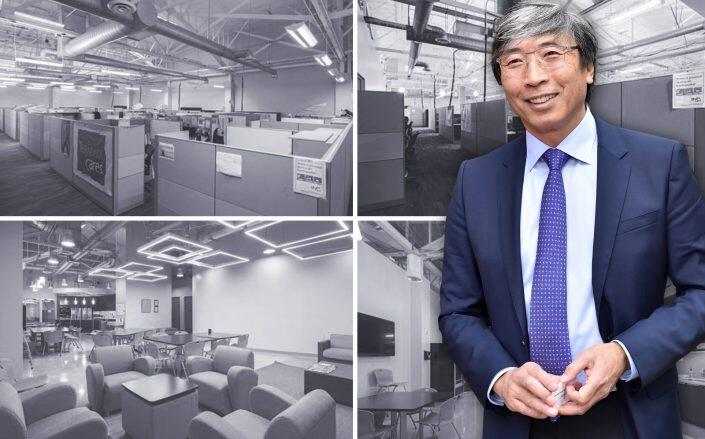 Patrick Soon-Shiong and the office building (Getty, LoopNet)