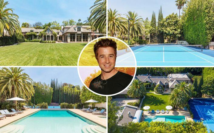 Rockstar Energy Drink founder Russ Weiner with the estate (Getty, Realtor via Coldwell Banker Realty)