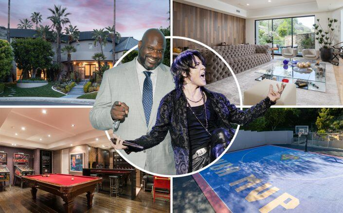 Shaquille O'Neal, Kyosuke Himuro and the property (Getty, Kimuro, Sally Forster Jones)