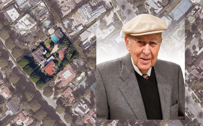 Carl Reiner with the neighboring properties (Getty, Google Maps)