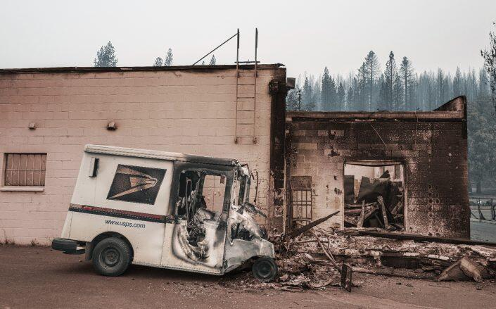 Greenville, California after the fire (Getty)