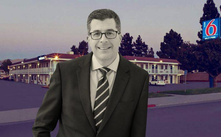 G6 Hospitality CEO Rob Palleschi and Motel 6 San Jose South, one of the largest assets in the portfolio (G6)