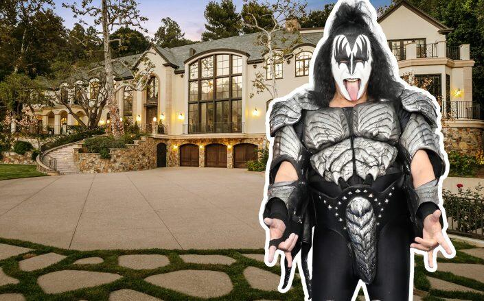 Gene Simmons and the Beverly Hills property (Getty, The Altman Brothers / Douglas Elliman)