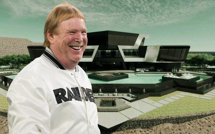Las Vegas Raiders Owner Mark Davis and renderings of the unique home (Getty, City of Henderson)