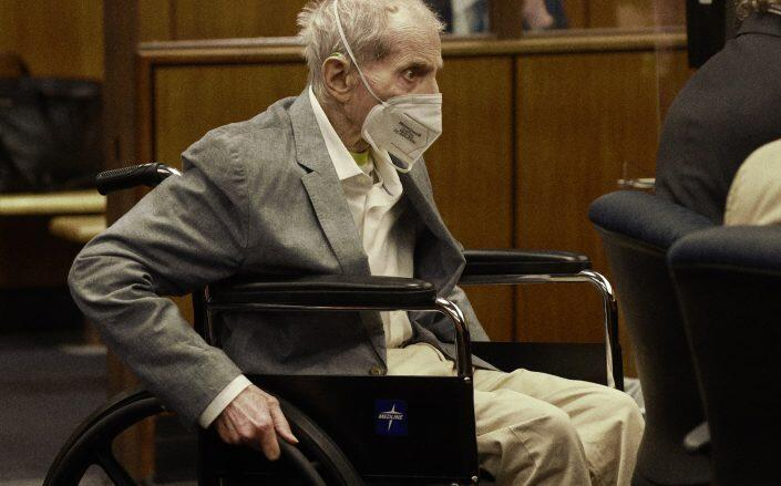 Robert Durst at the closing arguments of the murder trial (Getty)