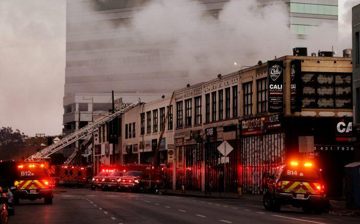 The Boyd Street fire in May, 2020 (Getty)
