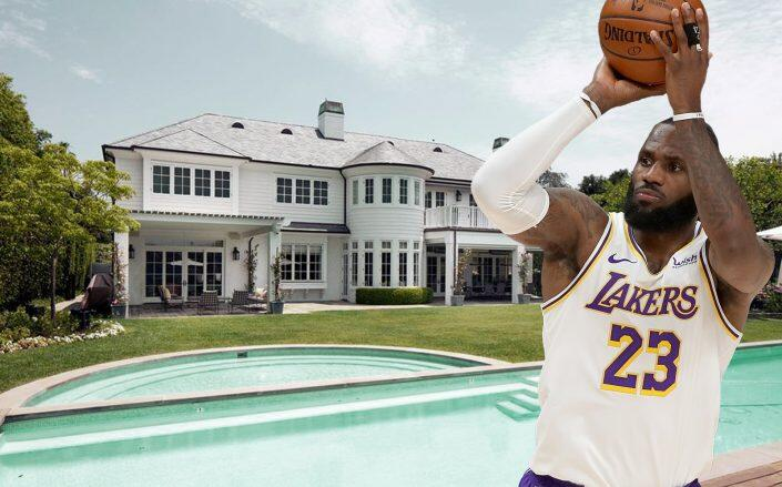 LeBron and the six bedroom house (Getty, Redfin)