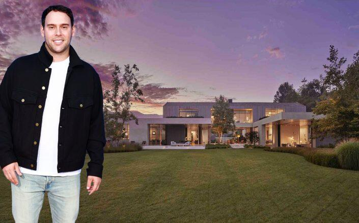 Scooter Braun and his new house (Getty, The Agency Real Estate)