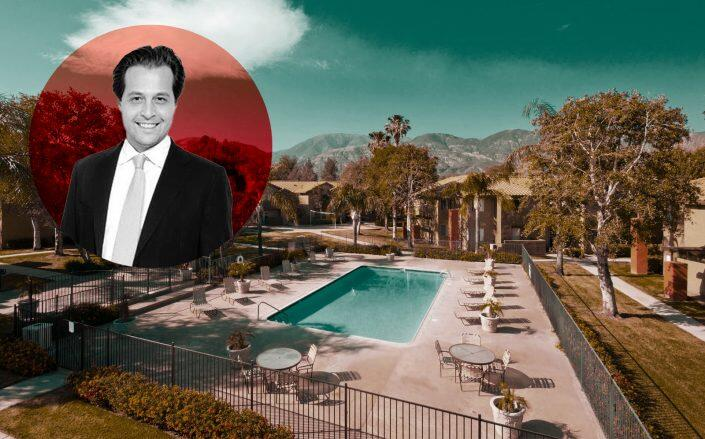 Dalan Management co-founder Danny Wrublin and 1660 Kendall Drive (Facebook via The Vue Apartment Homes)