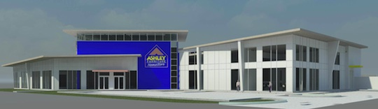 A Rendering Of The Ashley Furniture HomeStore
