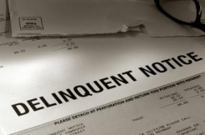 Notice for a delinquent mortgage