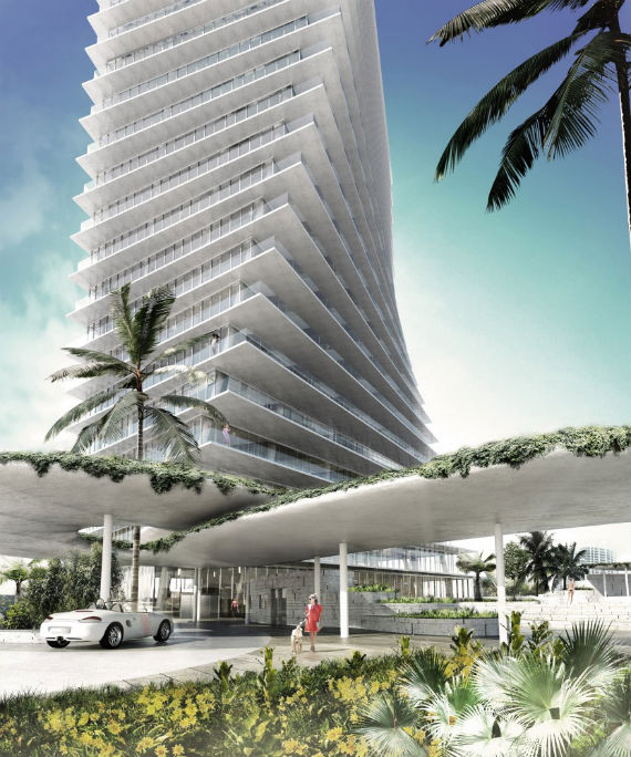 Rendering of one of the Grove at Grand Bay towers