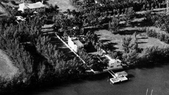 Archived image of Al Capone's former estate at 93 Palm Ave. on Palm Island, Miami Beach