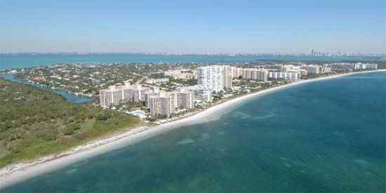 Key Biscayne, a French enclave in South Florida