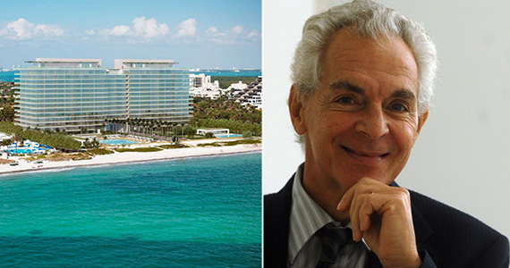 From left: Oceana Key Biscayne renderings and Eduardo Costantini