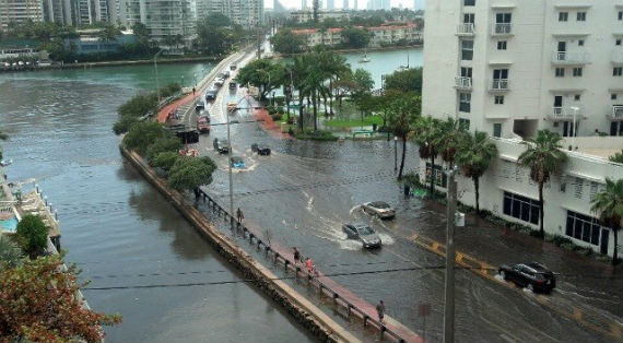 Flooding in Miami Beach in 2013