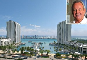 Marina Palms rendering (inset: Coastal Construction's Tom Murphy)
