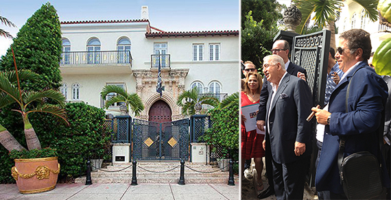 Casa Casuarina and pictured from left: Jill Eber, Joe Nakash and associate Eli Gindi