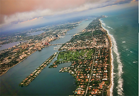 Aerial view of S. Florida