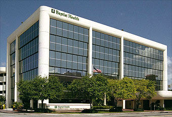 Baptist Health's headquarters at 8900 North Kendall Drive