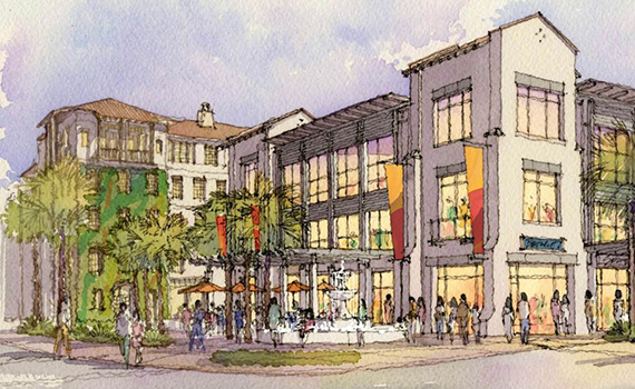 2012 rendering of Atlantic Crossing project along Atlantic Avenue in Delray Beach