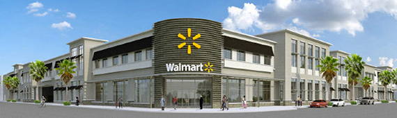 Rendering of Midtown Miami Wal-Mart