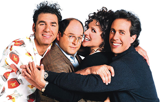 "From left: ""Seinfeld""'s Michael Richards, Jason Alexander, Julia Louis-Dreyfus and Jerry Seinfeld"